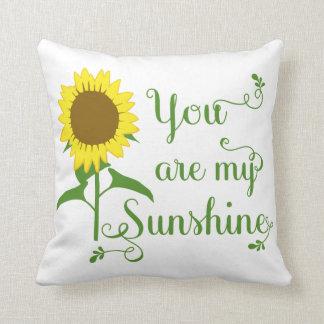 Gelbe mit Blumensonnenblume sind Sie meine Kissen