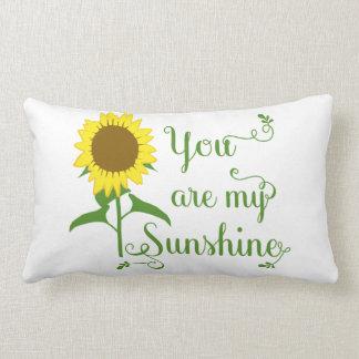 Gelbe mit Blumensonnenblume sind Sie meine Lendenkissen