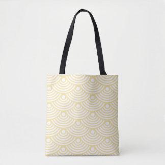 Gelbe moderne Wellen-Taschen-Tasche Tasche