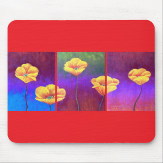 Gelbe Mohnblumen-Blumen-Malerei - multi Mousepad