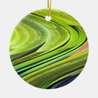 Gelbe-Naped Amazonas-Papageien-Federn durch Keramik Ornament