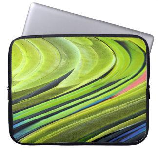 Gelbe-Naped Amazonas-Papageien-Federn durch Laptop Sleeve