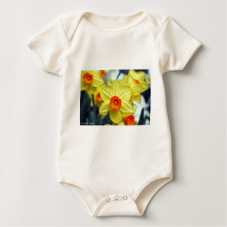 Gelbe Narzisse Baby Strampler