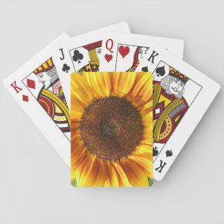 Gelbe, Orange und Brown-Sonnenblume-Karten Spielkarten
