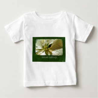 Gelbe Poinsettias 1 - Frohe Festtage Baby T-shirt