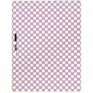 Gelbe Polka-Punkte mit lila Hintergrund STaylor Trockenlöschtafel