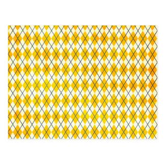 Gelbe Raute Postkarte