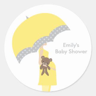 Gelbe Regenschirm-Aufkleber