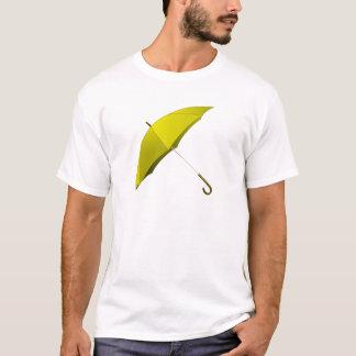 Gelbe Regenschirm-Hong T-Shirt