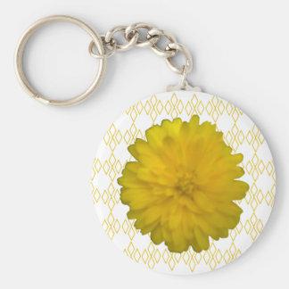 Gelbe Ringelblume Keychain Schlüsselanhänger