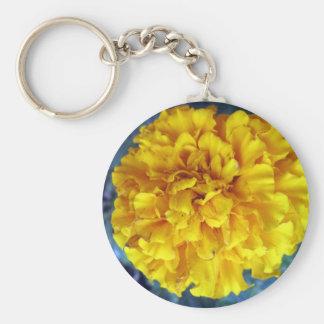 Gelbe Ringelblume Schlüsselanhänger