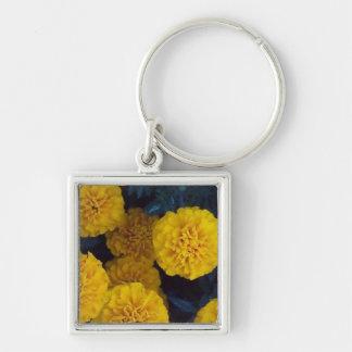 Gelbe Ringelblumen Schlüsselanhänger