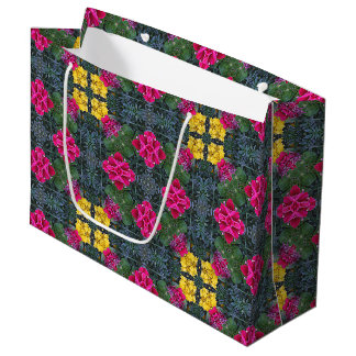 Gelbe Ringelblumen-verlässt rosa Petunie-Grün 5 Große Geschenktüte