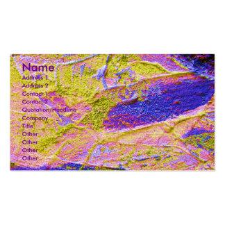 Gelbe rosa blaue Visitenkarte des