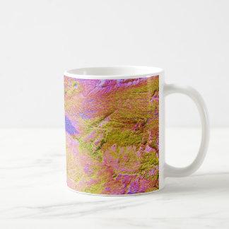 Gelbe rosa blaue Zerstampfungs-Tasse - Tasse