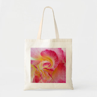 gelbe rosa Blumenblätter Tragetasche