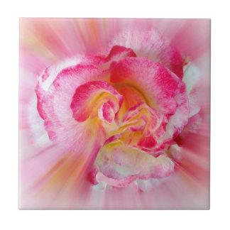 gelbe rosa Rose Keramikfliese