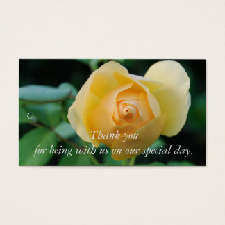 Gelbe Rose danken Ihnen Geschenk-Umbau Visitenkarte