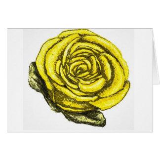 Gelbe Rose der Freundschaft Karte