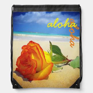 Gelbe Rose Kailua Sportbeutel