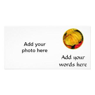 Gelbe Rose Karte