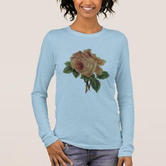 Gelbe Rose Langarm T-Shirt