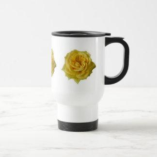 Gelbe Rose Reisebecher
