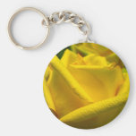 Gelbe Rose Schlüsselanhänger