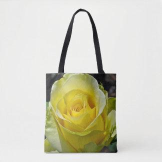 Gelbe Rose Tasche