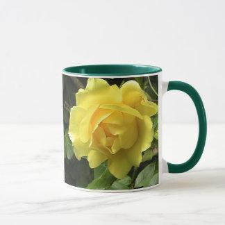 Gelbe Rose Tasse