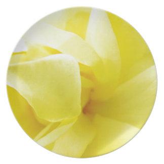 Gelbe Rose Teller