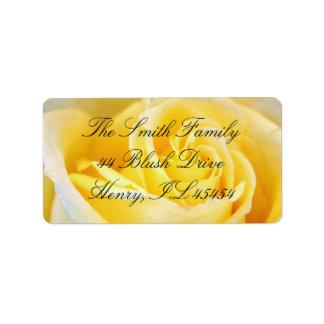Gelbe Rosen-Adressen-Etiketten Adressetiketten