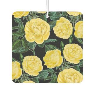 gelbe Rosen auf Schwarzem Lufterfrischer