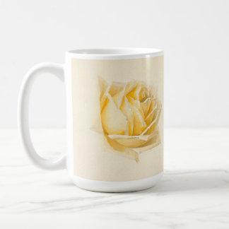 Gelbe Rosen-Blumen-Malerei-Tasse Kaffeetasse