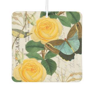 Gelbe Rosen-Collage Lufterfrischer