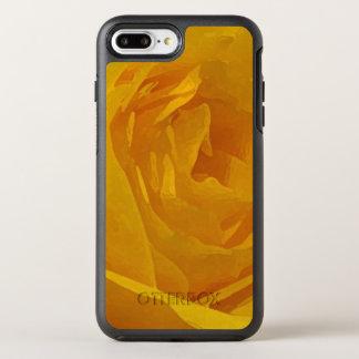 Gelbe Rosen-Garten-Blumen abstrakt OtterBox Symmetry iPhone 8 Plus/7 Plus Hülle