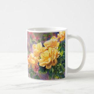 Gelbe Rosen Kaffeetasse