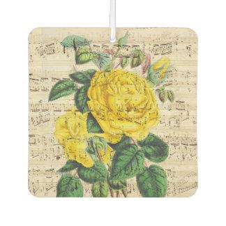 Gelbe Rosen-Musik Autolufterfrischer