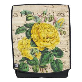 Gelbe Rosen-Musik Rucksack