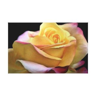 Gelbe Rosen-PastellLeinwand geprüft Leinwanddruck