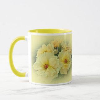 Gelbe Rosen Tasse