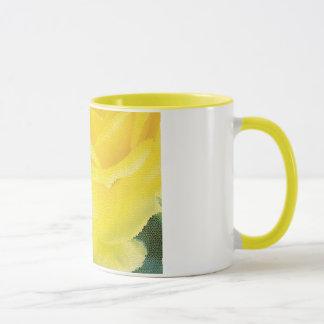 Gelbe Rosen-Tasse Tasse