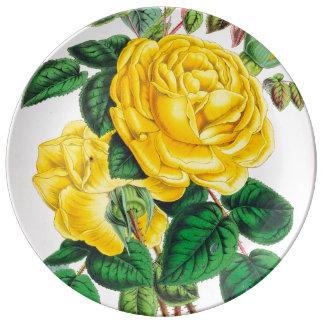 gelbe Rosen Teller