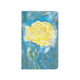 Gelbe Rosen-Zeitschrift (gezeichnet) Taschennotizbuch