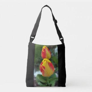 gelbe rote Tulpen Tragetaschen Mit Langen Trägern