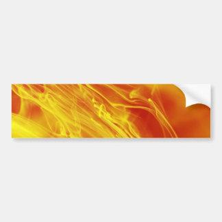Gelbe rotes Feuer-Tinten-Tropfen-Fotografie Autoaufkleber
