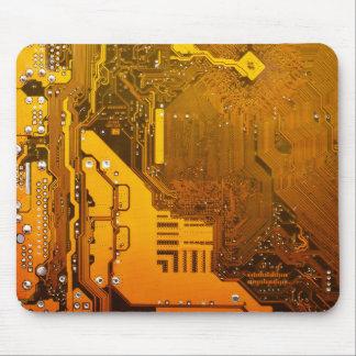 gelbe Schaltungsbrett-Computer-Chip-Motte Mousepad