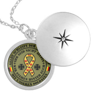 Gelbe Schleife der Solidarität für unsere Soldaten Anhänger