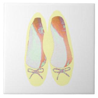 Gelbe Schuhe Keramikfliese