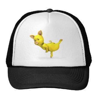 Gelbe Schwein-Arabeske Netzmützen